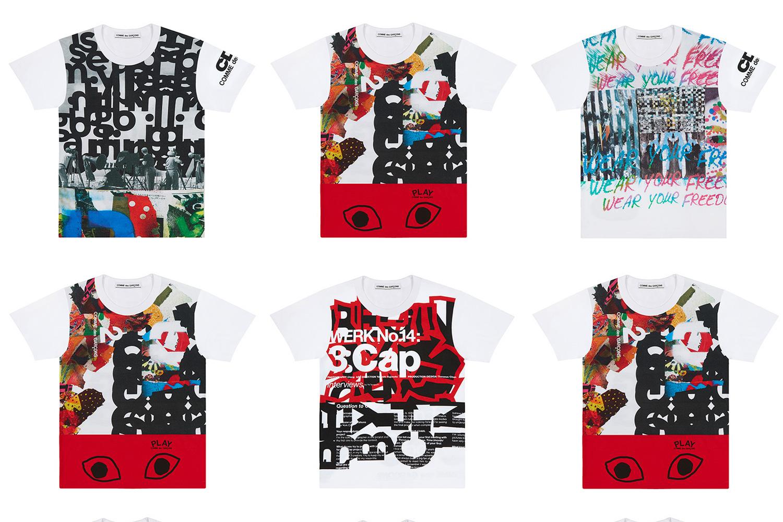 """Comme des Garçons Unveils """"Collage T-shirts"""" Collection"""