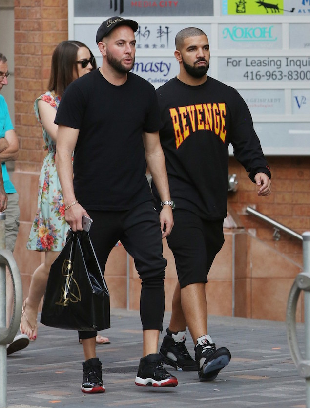 Spotted: Drake Wears 'Revenge' Tour Shirt & Air Jordan 5 Retros