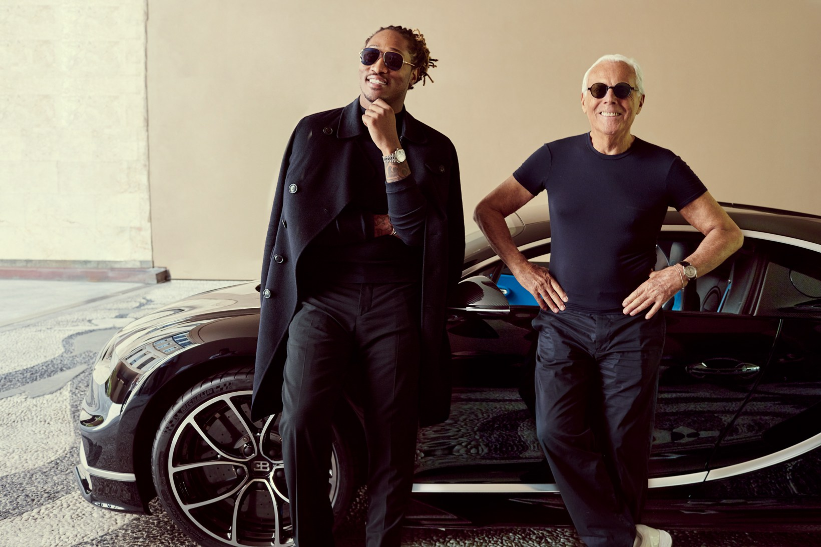 Future, Bugatti and Armani Work on a First Time Collaboration