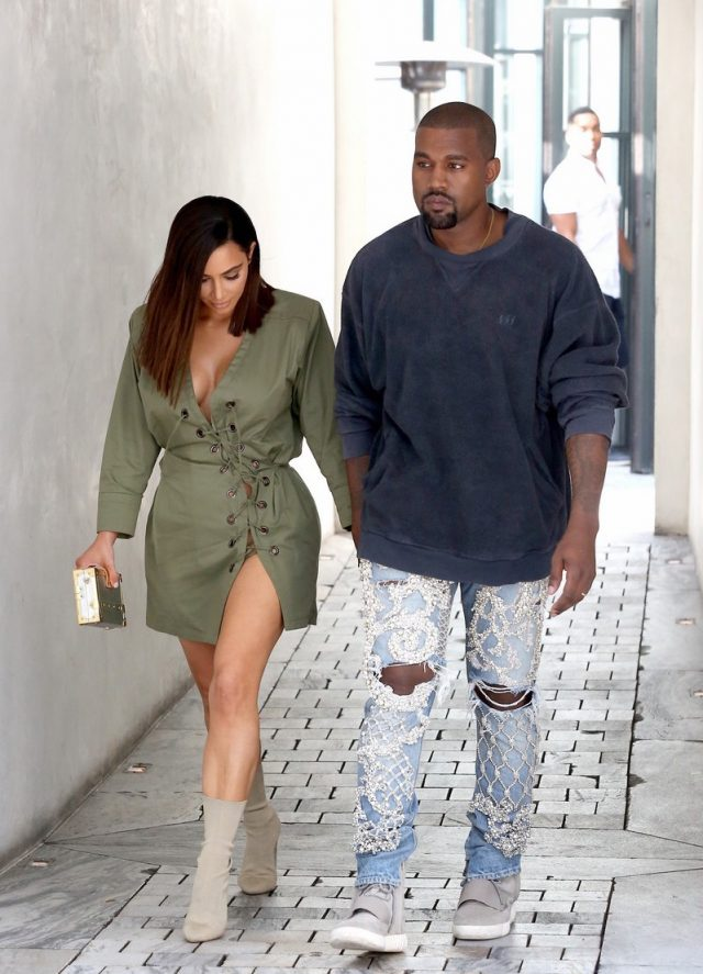 Spotted: Kanye West In Custom Fear Of God Jeans
