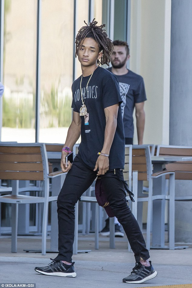 Spotted: Jaden Smith Wears UNDERCOVER T-Shirt & Adidas Ultra Boosts