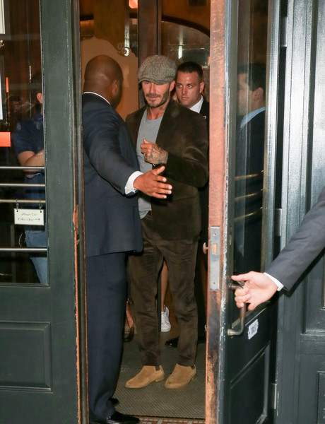SPOTTED: David Beckham In Saint Laurent Boots