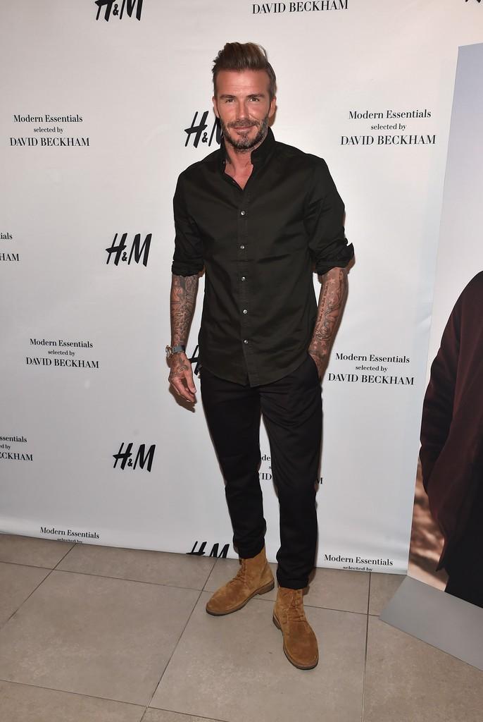 SPOTTED: David Beckham In H&M & Saint Laurent