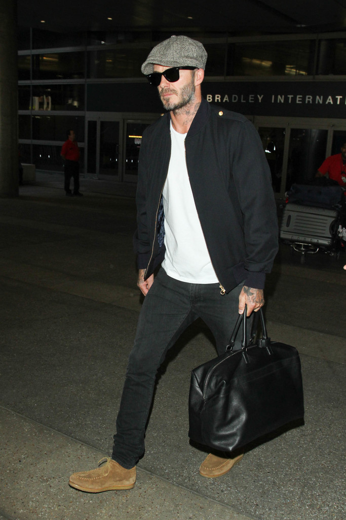 SPOTTED: David Beckham in Saint Laurent & Kent and Curwen