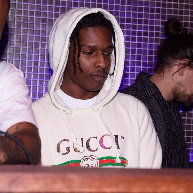 SPOTTED: A$AP Rocky in Gucci Hoodie