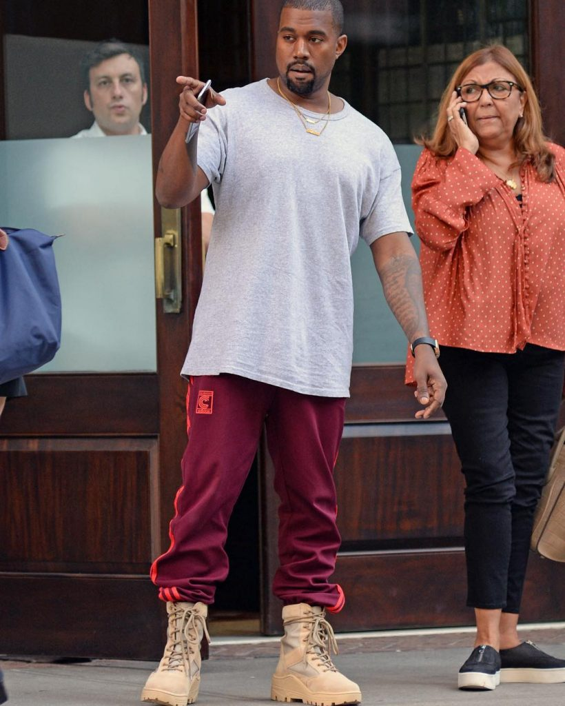 usted está Kent perecer  SPOTTED: Kanye in Adidas Yeezy Season 4 Calabasas Sweatpants & Yeezy  Military Boots – PAUSE Online | Men's Fashion, Street Style, Fashion News &  Streetwear