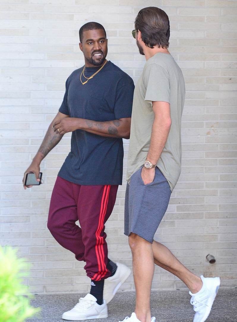 SPOTTED: Kanye West & Scott Disick In Casual Looks