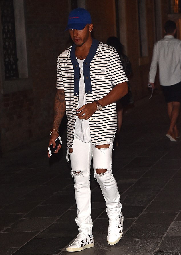 Spotted: Lewis Hamilton in Tackma, Saint Laurent & Yeezy