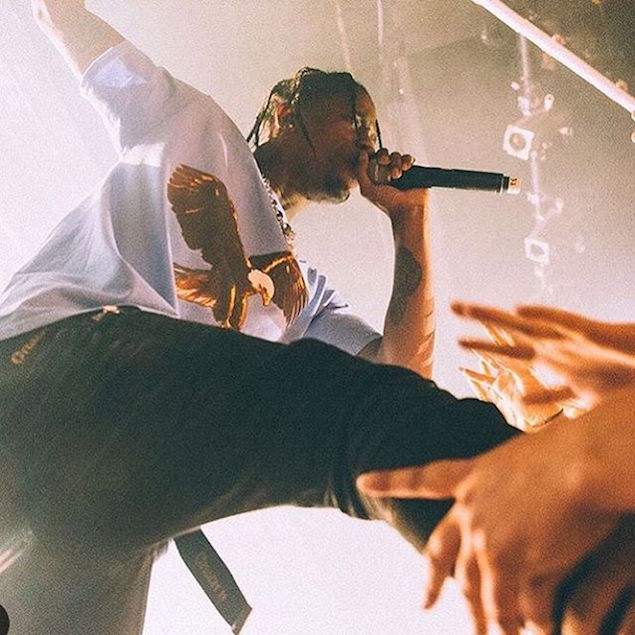 SPOTTED: A$AP Rocky & Travis in Gosha Rubchinskiy