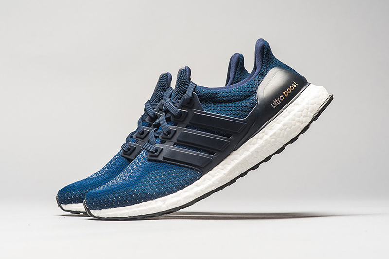 The Adidas Ultra-Boost In Navy & Gold