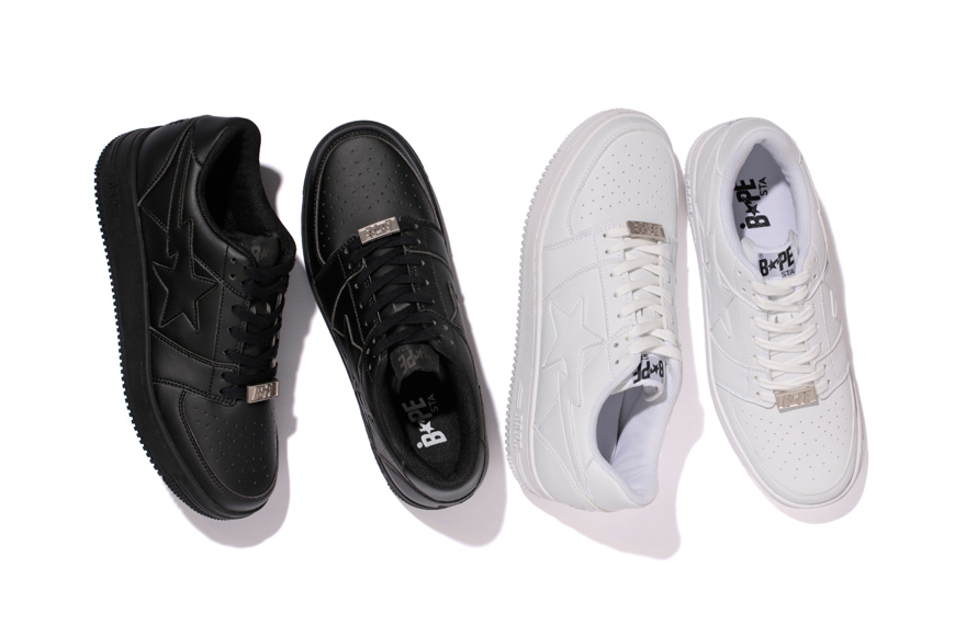 A Bathing Ape BAPESTA Returns In Monochromatic Colourways