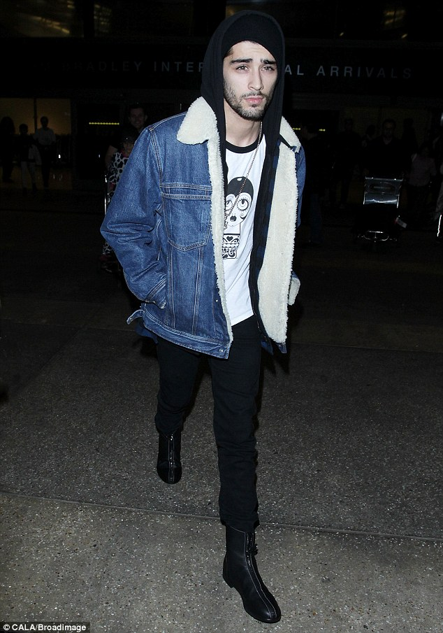 Get The Look: Zayn Malik In Denim Shearling Jacket