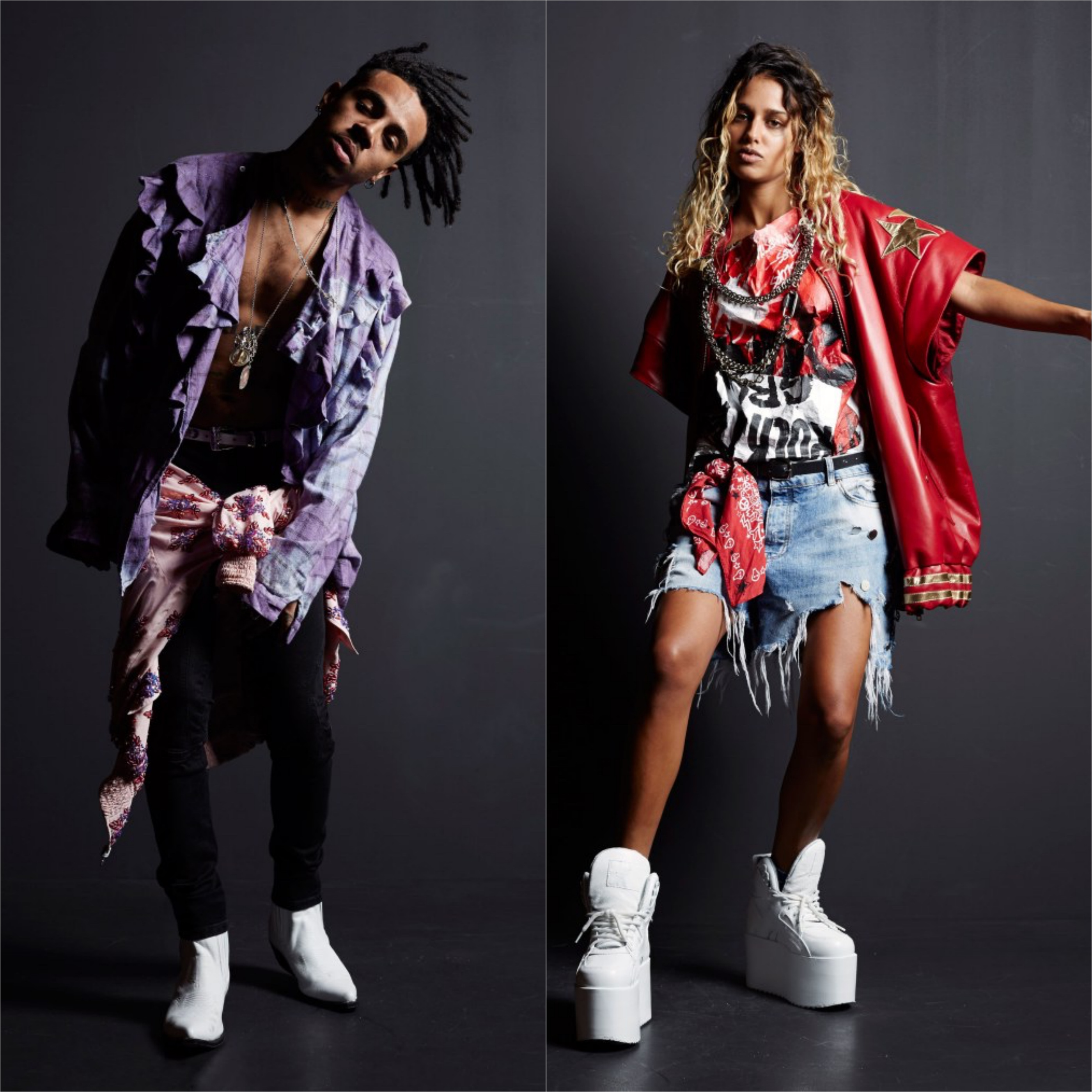 Vic Mensa & Tommy Genesis in Faith Connexion Spring 2017 Collection