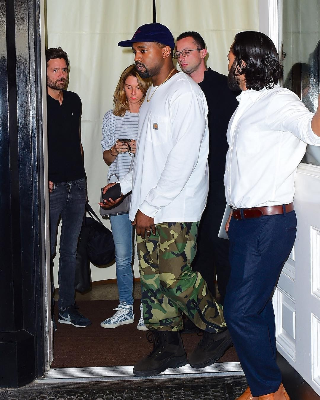 SPOTTED: Kanye West in Yeezy Boots And Carhartt