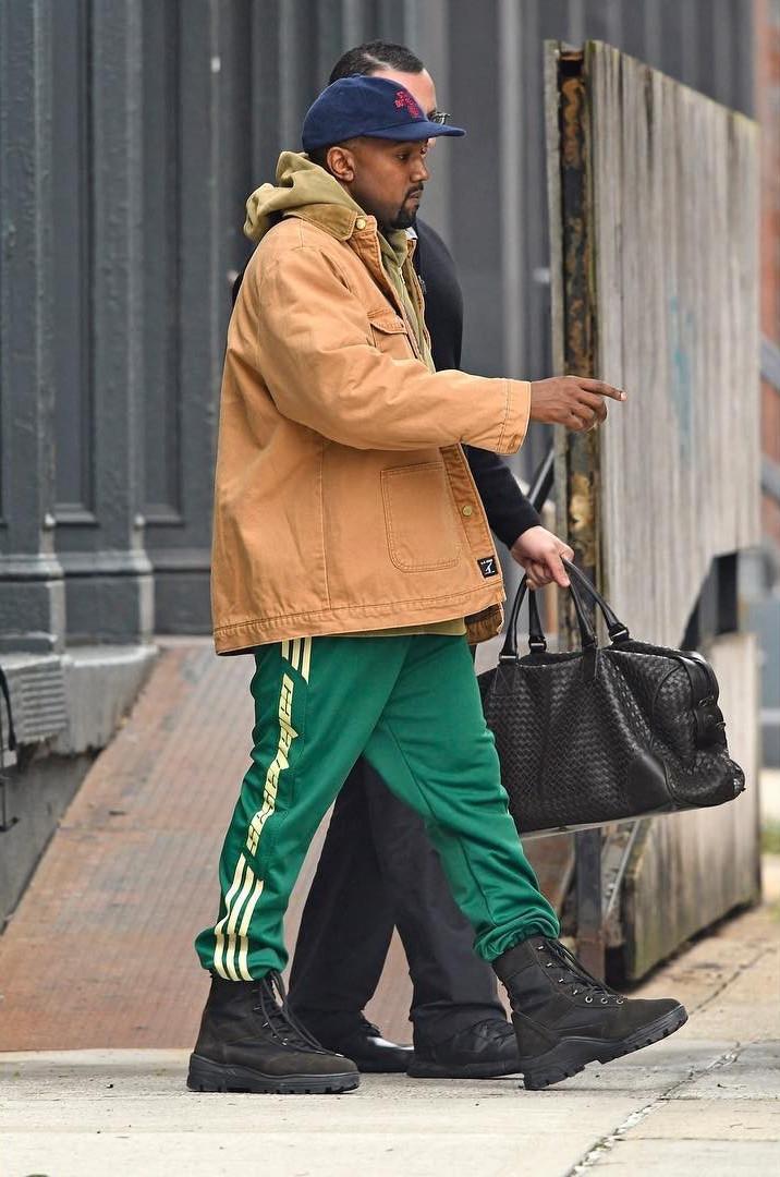 SPOTTED: Kanye West in Adidas Yeezy, Bottega Veneta & Brain Dead