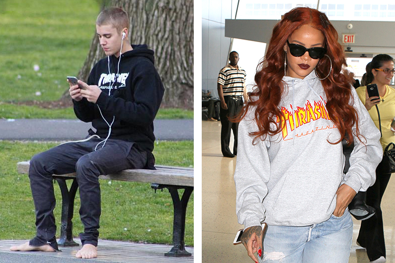 Thrasher calls out Justin Bieber and Rihanna and tells them to stop wearing its clothing
