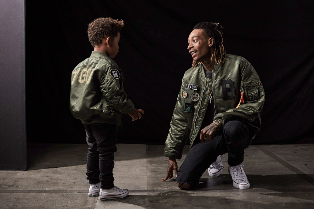 Wiz Khalifa Collaborates on a Clothing Line With His Son