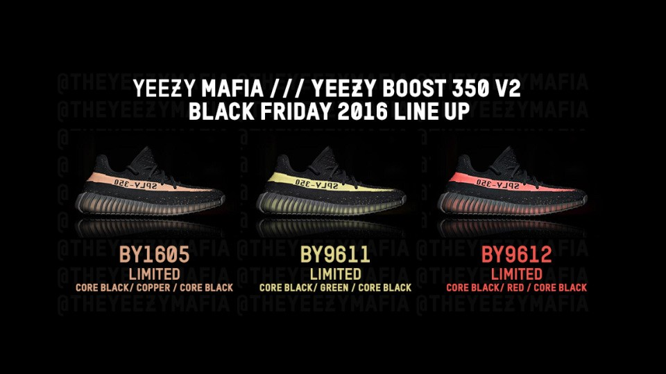 Yeezy Boost 350 V2 To Release With Three New Colourways