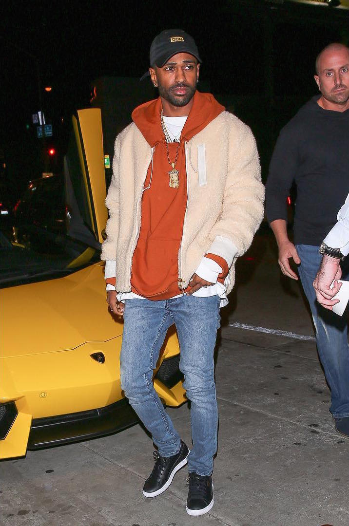 SPOTTED: Big Sean In Aimé Leon Dore Jacket And Puma Sneakers
