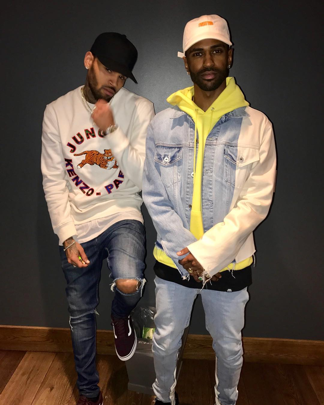 SPOTTED: Big Sean In OFF-WHITE x Levi's + Chris Brown In Kenzo x H&M