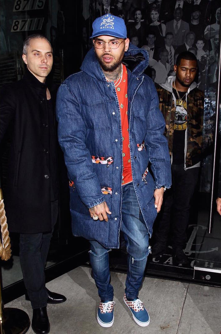 SPOTTED: Chris Brown In Kenzo x H&M Jacket