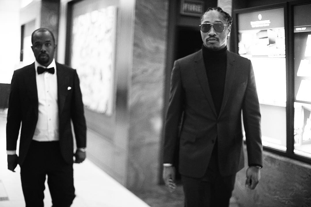 SPOTTED: Future In Dior Homme Suit To Fear Of God + Christian Louboutin Sneakers