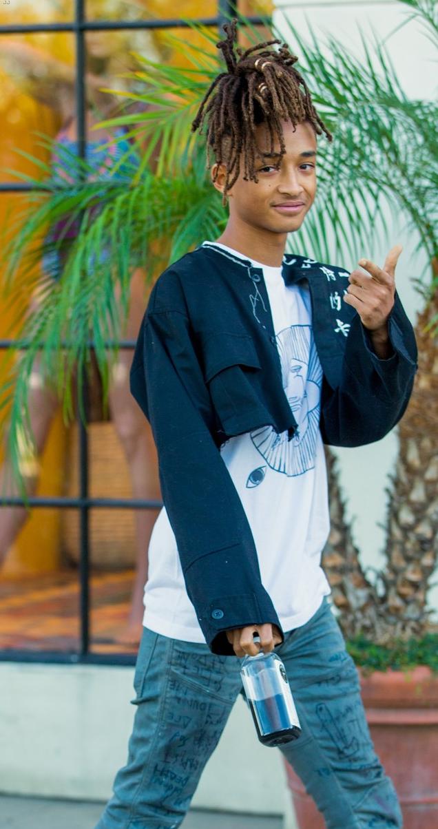 SPOTTED: Jaden Smith In Pharrell Williams x Adidas HU NMD