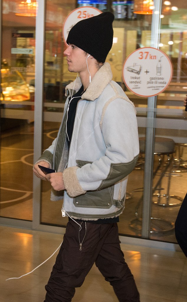 SPOTTED: Justin Bieber Stays Cozy in Sheepskin Diesel Jacket
