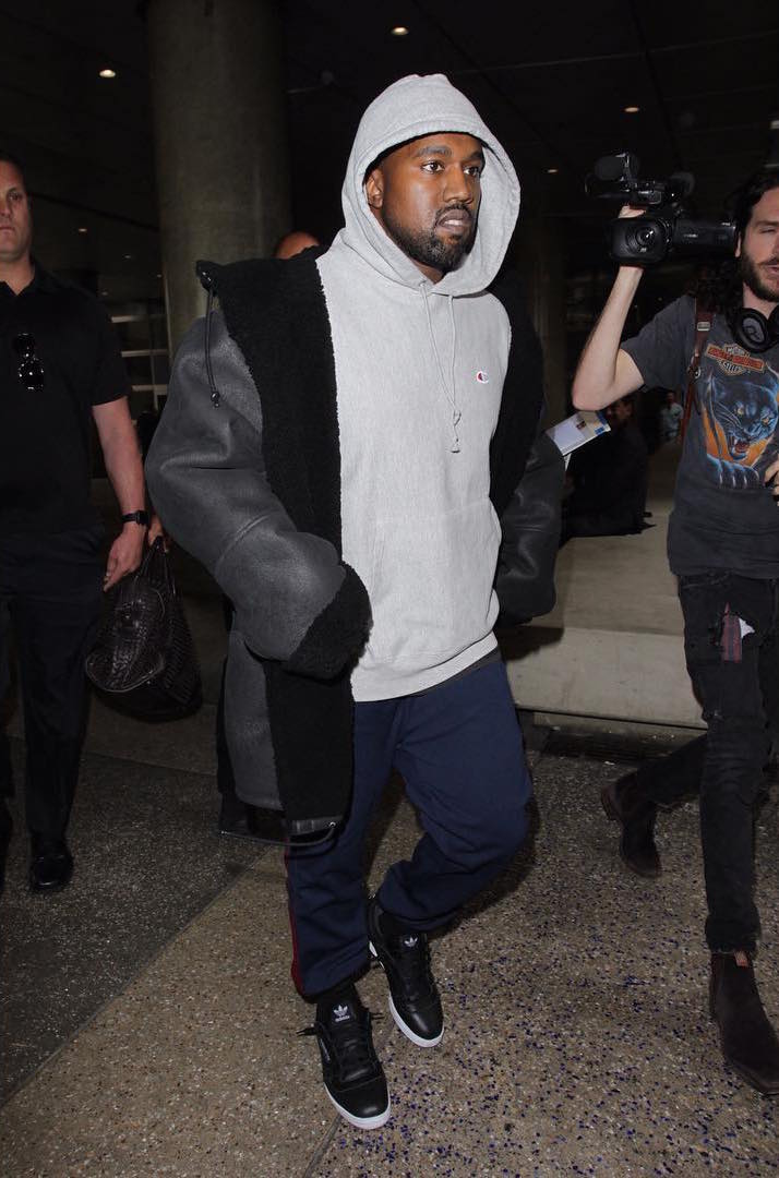 SPOTTED: Kanye West In Yeezy Season 3 & 4 and Champion