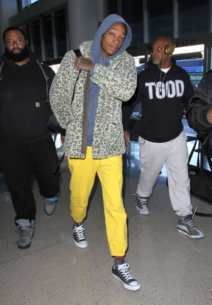SPOTTED: Wiz Khalifa In Gosha Rubchinskiy Coat + Converses