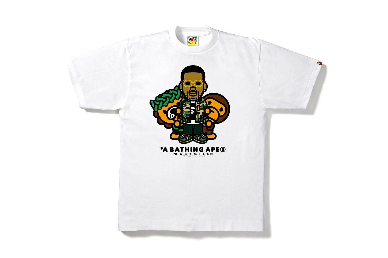 BAPE Collaborates With Kid Cudi, Big Sean and Travis Scott On A T-Shirt Line
