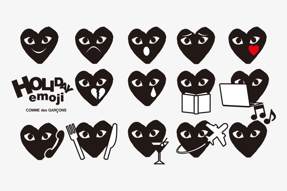 Comme des Garcons Unveil Play Heart Emoji Pack