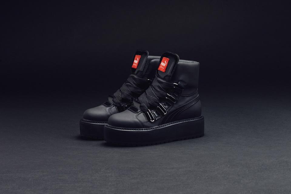 Rihanna's FENTY PUMA All Black Sneaker Boot
