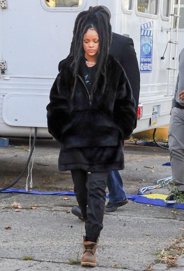 SPOTTED: Rihanna in FENTY X PUMA & Timberland