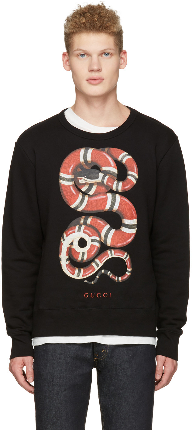 Get Cosy This Winter With Gucci's Black Snake Pullover