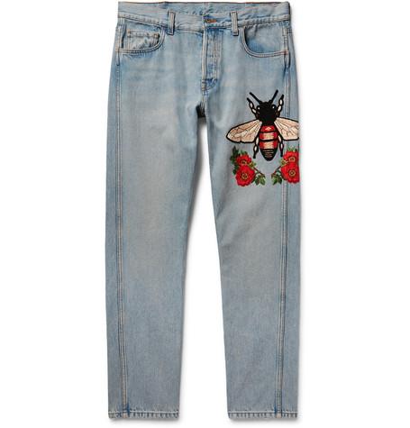 MR PORTER Reveals New Gucci Embroidered Jean