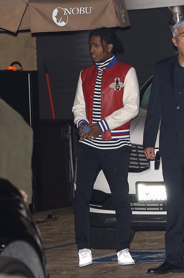 SPOTTED: ASAP Rocky Wearing Gucci Jacket And Reebox x Palace Trainers