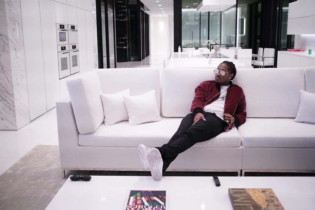 SPOTTED: Future In Amiri Velvet Jacket and Adidas Stan Smiths