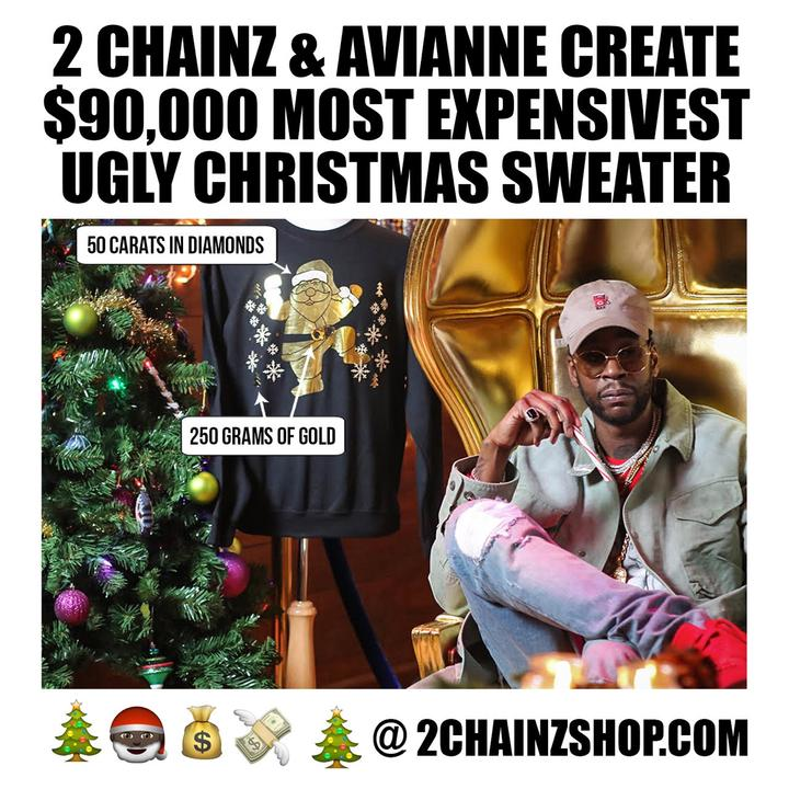 2 Chainz $90,000 Charity Christmas Sweater