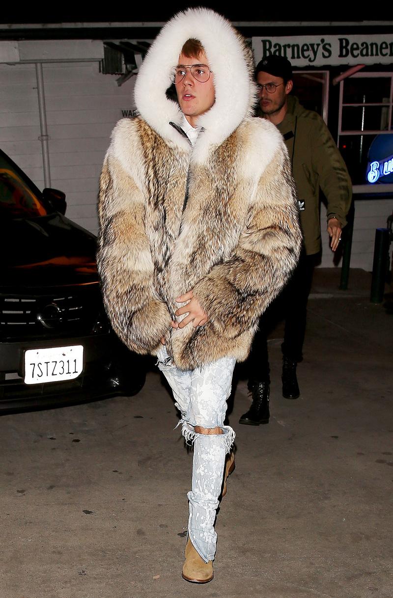 SPOTTED: Justin Bieber In Burberry, Purpose Merch & Saint Laurent