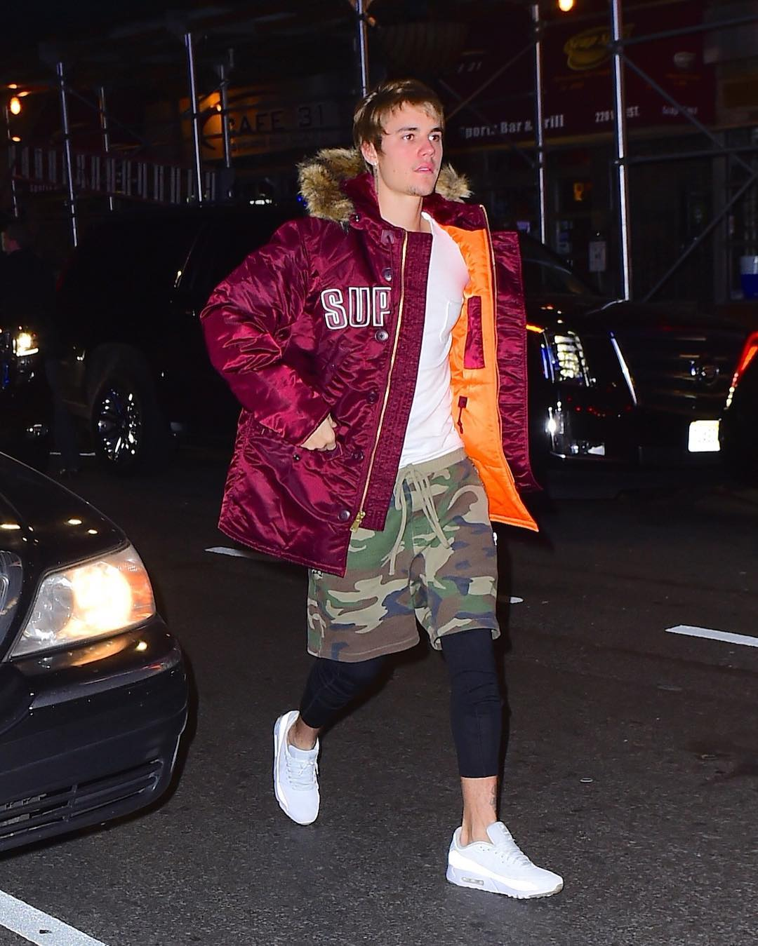 SPOTTED: Justin Bieber in Supreme and F.O.G