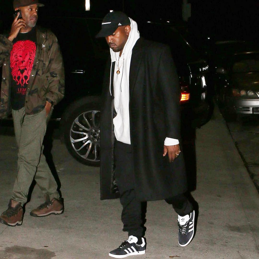 SPOTTED: Kanye West & Tyga In Adidas Gazelle Sneakers
