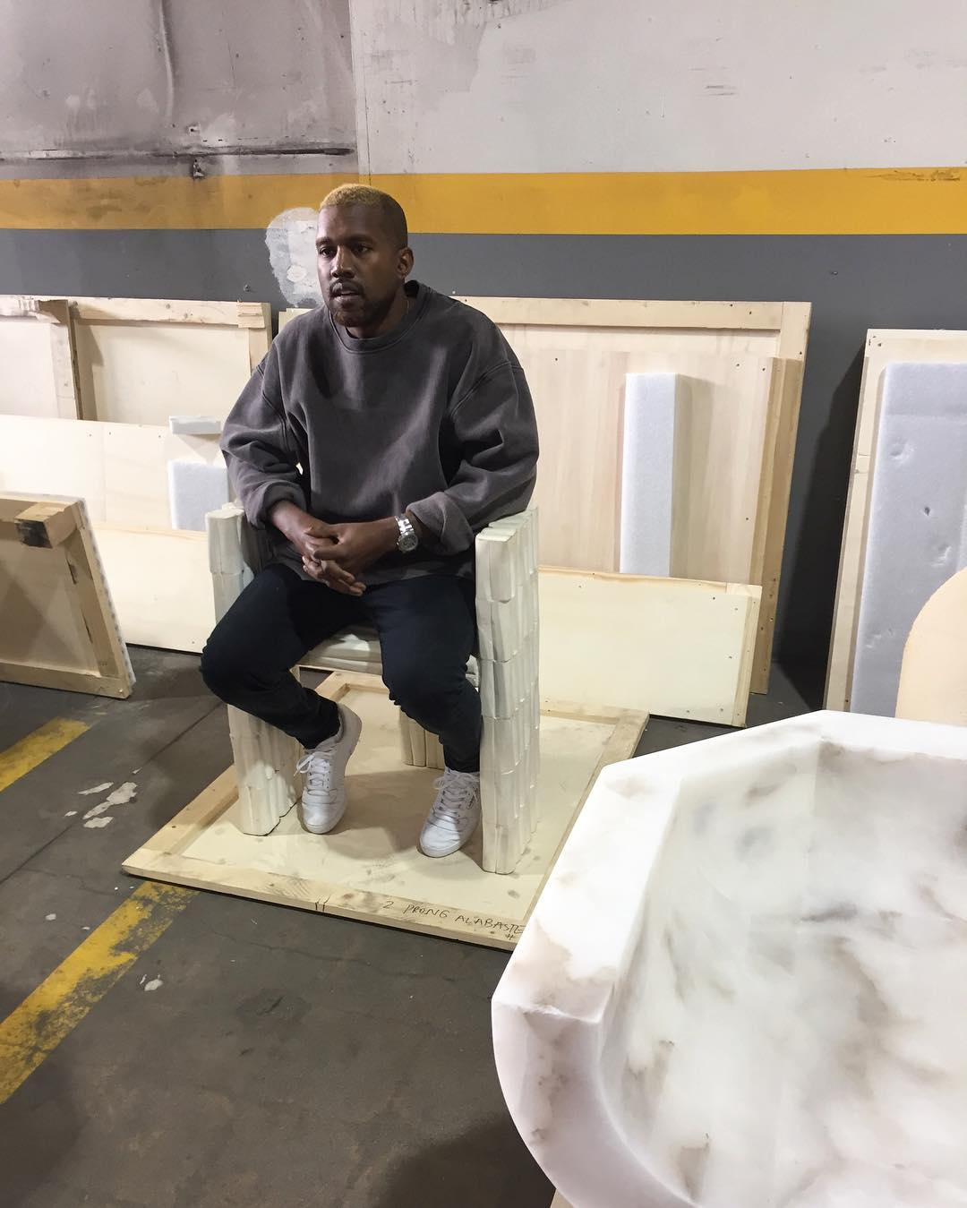 Kanye West's First Appearance Since Hospital In Unreleased Adidas Yeezy Season 4