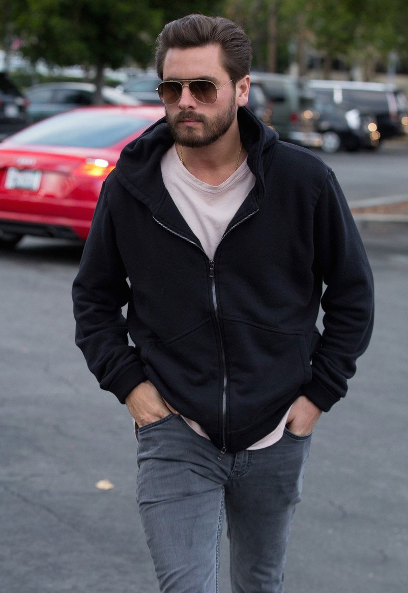 SPOTTED: Scott Disick In Calabasas Wearing Saint Laurent Jeans and Common Project Sneakers