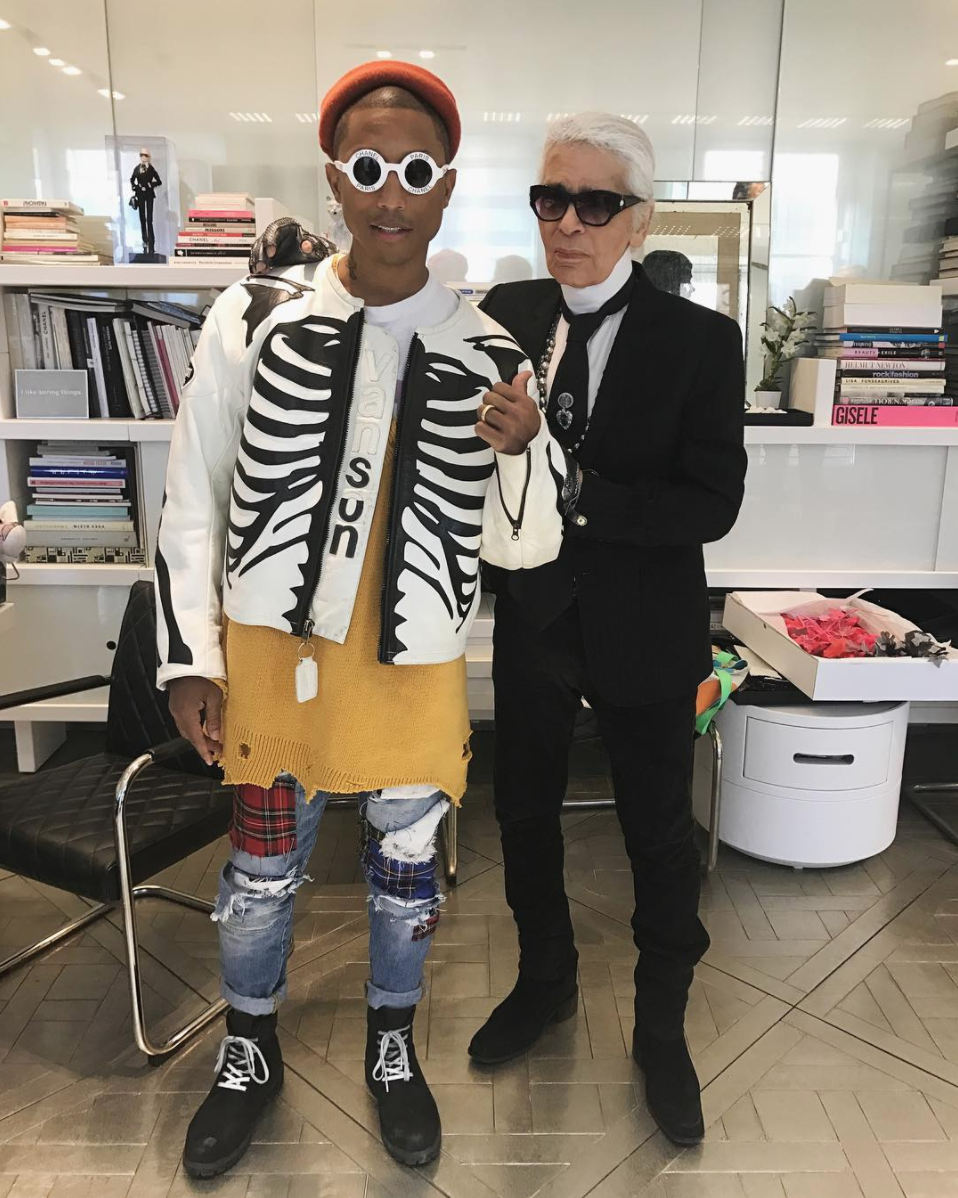 SPOTTED: Pharrell Williams Goes Super Quirky