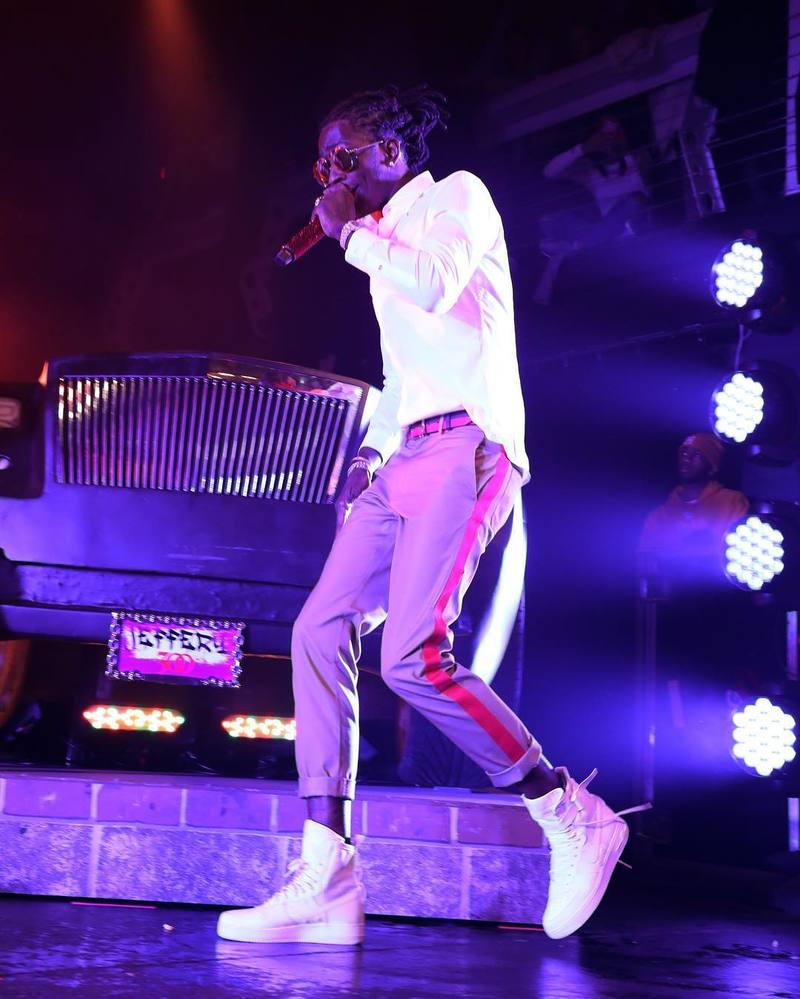 SPOTTED: Young Thug In Valentino & Nike