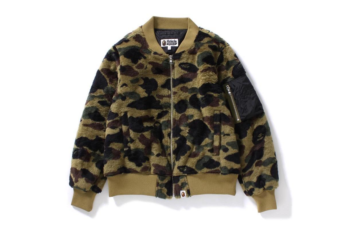 BAPE Teases New Camouflage Fleece Bomber Jacket