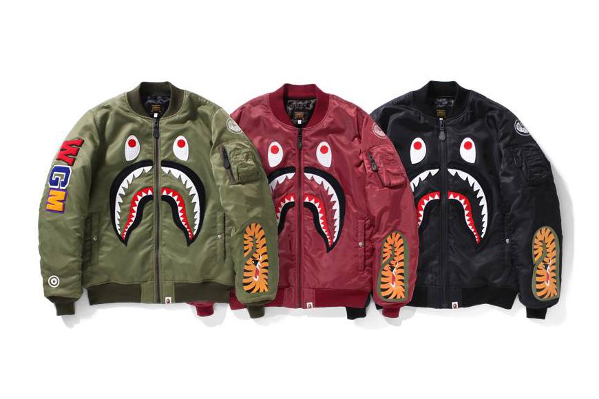 """A Bathing Ape MA-1 """"Shark"""" Jacket Available Soon"""