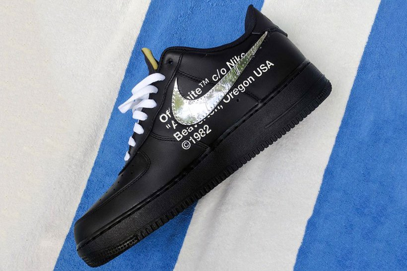 OFF-WHITE x Nike Air Force 1 Showcased At Art Basel