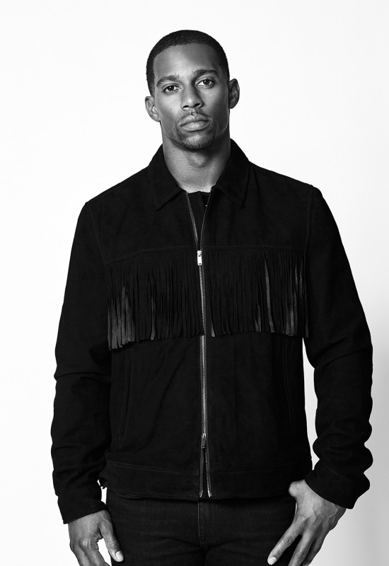 Victor Cruz Face Of Ovadia & Sons Resort 2016 Campaign